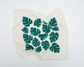 Tropical Leaf Print - Tea Towel
