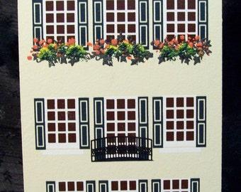 Rainbow Row II Charleston, SC - 93 East Bay - made in Charleston -Shelia's Collectibles  1993