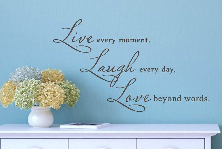Beyond Words Customizable Wall Decor Kohls : Live laugh love vinyl wall decal romantic