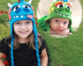 Crochet Monster Hat Pattern For Boys & Girls (PDF FILE)