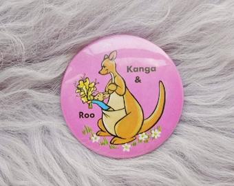Vintage Retro 90s Winnie The Pooh A A Milne Kanga Roo Kangaroo Pin Badge