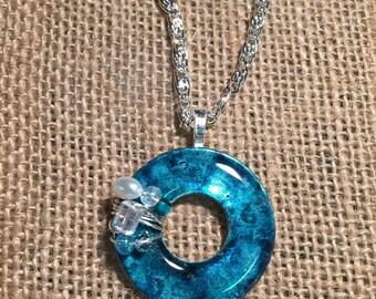 Bluely Blue Upcycled Washer Necklace
