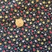 Tiny Print Cotton Fabric, Black Calico, Sewing Quilting Craft  Doll Clothes, over 3.75 yards