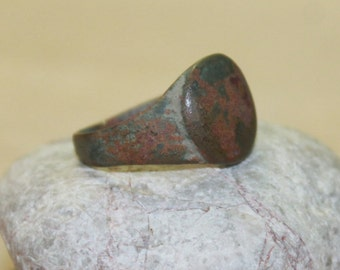 antique ring ... jewelry rusty ring ... from an archaeological dig ...  found object ... ancient  rare