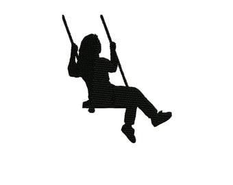 Girl Swinging Etsy