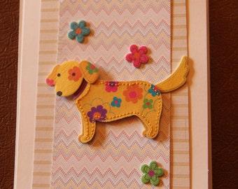 Handmade Cards, Handmade Birthday Cards, Happy Birthday Card, Dog Card