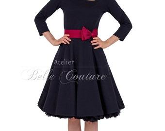Custom Made & Handmade - Jersey Dress Eve black