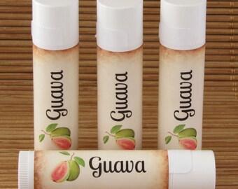 Guava Flavored Lip Balm - Handmade All Natural Lip Balm