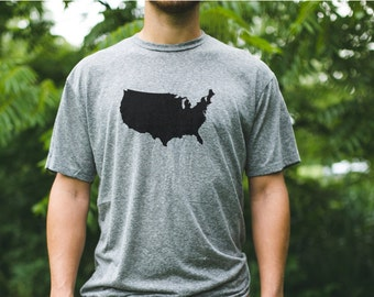 VERMONT is a State / Men's Vermont Tshirt / Vermont Home Tshirt / Vermont Map / Vermont Triblend / VT Pride / USA Made / Someone Apparel