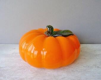 Vintage Retro Orange Glass Pumpkin - Made in China, Home Decor, Ormanent, Autumn, Halloween