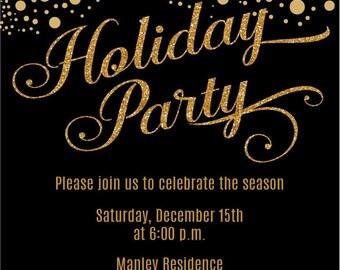 Gold Christmas Invitations Elegant Christmas Party
