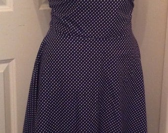 1950s style sundress made to measure fit n flare