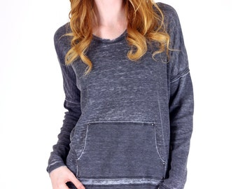 Thermal Knit Burnout Hoodie