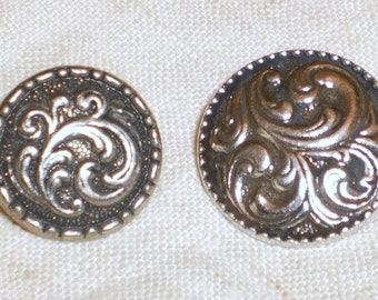 PAIR Pewter buttons