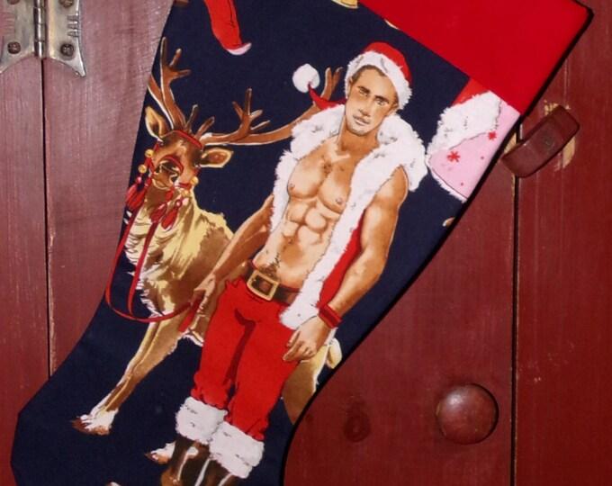 Sexy Santa Christmas Stocking