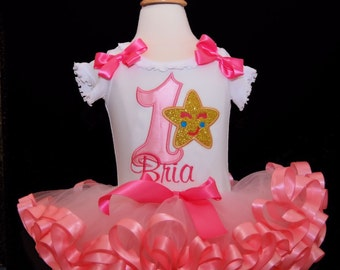 1st birthday girl outfit, baby tutu dress, twinkle twinkle little star, first birthday outfit girl, ribbon trim tutu, cake smash outfit