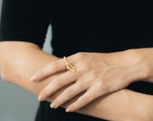Branch Ring- 3D Printed Jewelry in Stainless Steel and Polished Metals