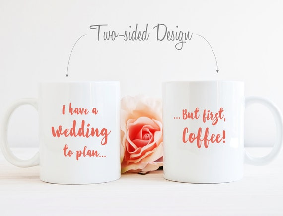 Gift For Bride To Be Wedding Planning Mug Unique Engagement
