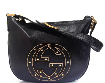 Gucci BLONDIE HOBO bag black leather  - FREE worldwide delivery