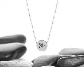 Starfish Necklace, Starfish, Beach Wedding, Starfish Jewelry, Starfish Pendant, Beach Necklace, Beach Jewelry, Starfish Charm, n246sSS
