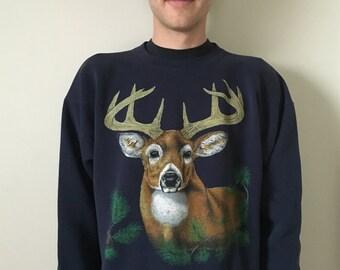 Retro 90s White Tailed Deer Sweatshirt