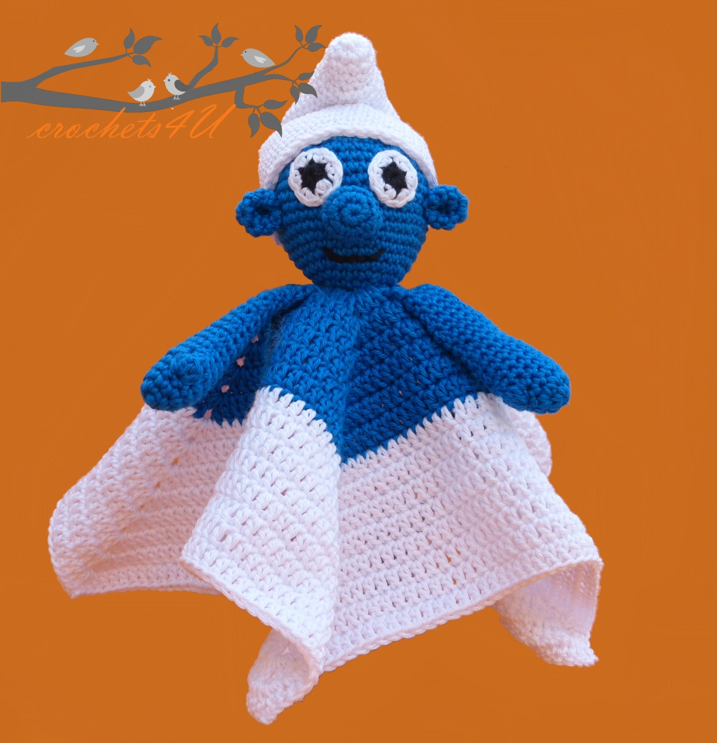 Crochet pattern lovey smurf security blanket crochet pattern this is a digital file bankloansurffo Image collections