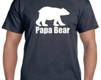 Grandparent Gifts Papa Bear Husband Gift T shirt Grandfather Gift Papa T shirt Gifts For Papa Personalized Mens tshirt Fathers Day Gift