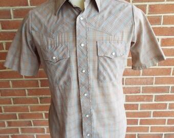 Vintage Short Sleeve Western Snap Shirt by Sundance Career Club