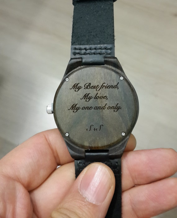 What To Engrave On Wedding Gift For Husband : engraved wooden watch, valentines day gift, personalized watch, mens ...