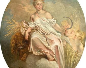 "Jean-Antoine Watteau : ""Ceres (Summer)"" (c. 1717-1718) - Giclee Fine Art Print"