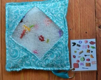 I Spy Bag Sensory Quiet Toy Activity Turquoise Blue