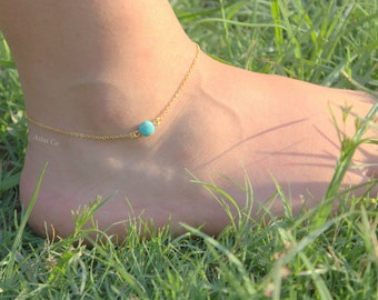 Turquaz Anklet with in Gold - Simple anklet