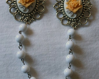 "Collar jewel / brooch double ""Roses"" - 4 colors"