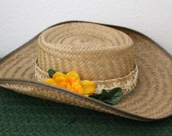 Summer Straw Hat c1970s