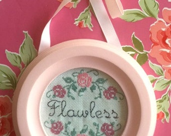 Flawless - Finished and Framed cross stitch