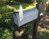Metal Feather Mailbox Flag, Aluminum, Will not rust, brushed finish, individually hand made