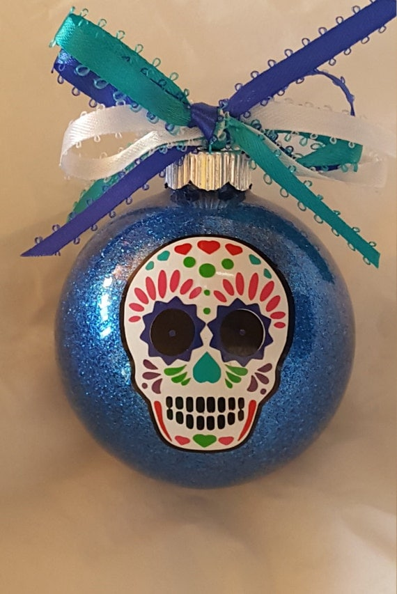 Sugar Skull Ornament Sugar Skull Christmas Ornament Custom