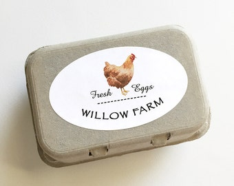 """Egg Carton Labels, Chicken Stickers, Coop Supplies, Backyard Chickens, 6 Labels, Personalized Hen Stickers, Chicken Drawings, 2.5"""" x 4.25"""""""