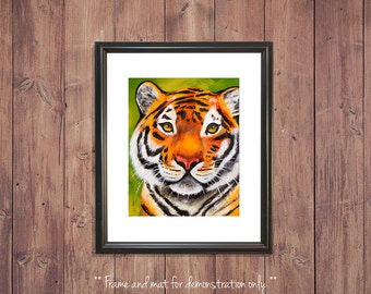 Tiger Print from Original Oil Painting, 4x5, 8x10