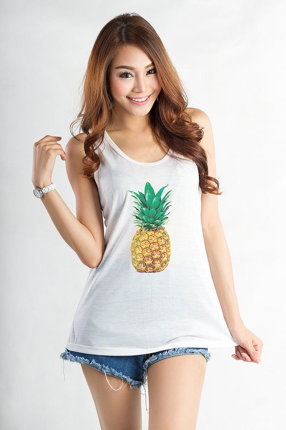 Items Similar To Pineapple Tank Top Tee Shirt Funny T