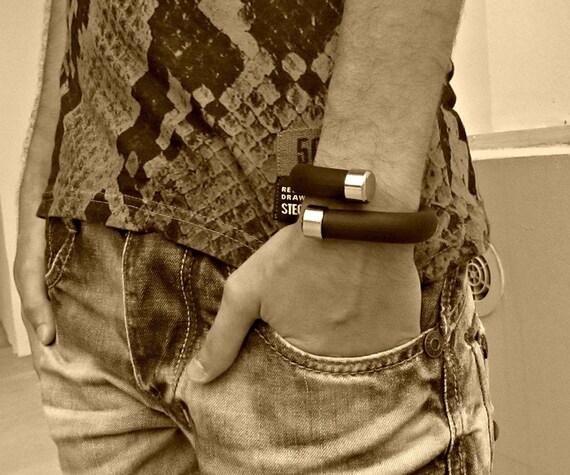 Mens Upcycled Bracelet Women Upcycled Bracelet Tube Bracelet Statement Bracelet Adjustable Bracelet
