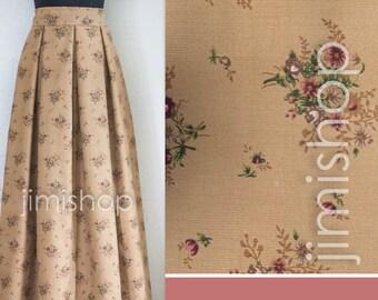 Warm velvet skirt, beige skirt, cotton skirt, velvet skirt, maxi skirt, designer skirt, made to order