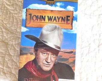 John Wayne VHS Movies 2 piece Never Opened Collector 2 Series Black n White Vintage Movies Sealed Collection The Duke Western Movies