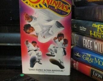 """vintage """"3 Ninjas - Knuckle Up"""" VHS"""