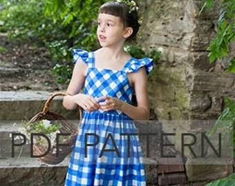 Rosie Cotton PDF, girl dress pattern, dress pdf, summer dress pdf, flutter sleeve pdf, girl pattern, girl pdf, sewing pdf, sewing pattern