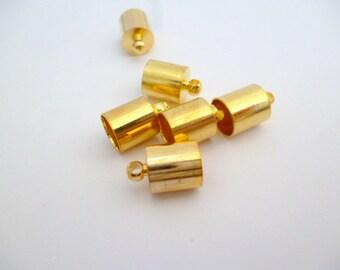 7 mm Golden End Cap_PP04450138_Ends_Golden,Silver or Bronze 7mm End _pack 20 pcs