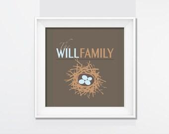 Family Nest DIGITAL PRINT