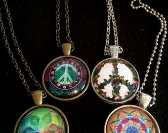 The Mandala Peace cabochon collection Flower Peace / Flower Mandala/ Petal Mandala