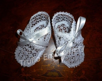 Lace Christening booties