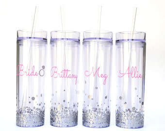 Bridesmaid Tumbler Gift Set - Personalized Bridesmaid Gift Set